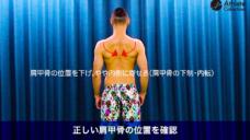 【肩甲骨の正しい位置を確認しよう!】の写真
