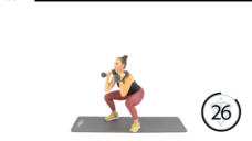 【ダンベルでダイナミックに全身運動を行おう!】スクワット&プレスのやり方の写真