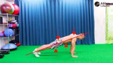 【クロール動作中の体のラインを安定させよう!】陸上で行うプランクトレーニングの写真