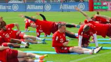 【ボールコントロール時のフィジカルを養おう!】FCバイエルン実践・体幹トレーニングの写真
