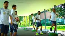 【ボールを受ける直前の動作を養おう!】インテルの選手実践の写真