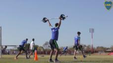 【瞬発力を養う股関節の爆発力!】ボカジュニアーズの選手実践トレーニングの写真