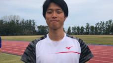 【サポート選手契約締結】陸上110mH尾形晃弘選手の写真