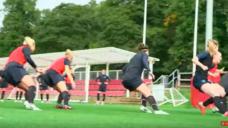 【鋭い切り返し動作を養おう!】イングランド女子代表選手実践-リアクションドリルの写真