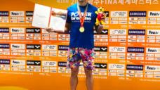 【マスターズ世界記録で3つの金メダル】元日本代表鉄人スイマー原英晃の写真
