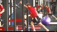 【ウォーミングアップでウエイトリフティング系種目を取り入れよう!】U24日本代表 橋岡大樹選手実践の写真